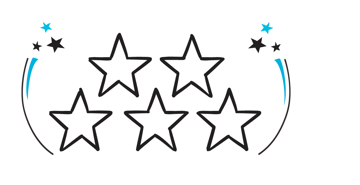 Five star customer satisfaction rating